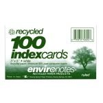 Index Card, 3 x 5 Ruled Recycled