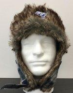 Ear Flops Navy Plaid Hat