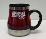 Cup 20oz Red Steel Mug MSU Grizzlies Griz Head