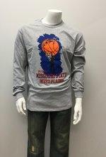 Lgsh T-Shirt SM Grey Basketball Hand on Ball, Grizzly MSU WP