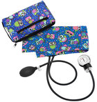 Aneroid Sphygmomanometer Kit w/case Blue Owls
