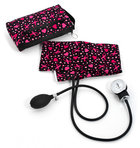 Aneroid Sphygmomanometer Kit w/case Pink Ribbon