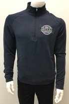 1/4 Zip with Embroidered Circular Emblem Pullover