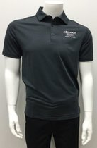 Men's Gray Striped Columbia Polo