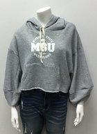 Crop Top Hoodie Heather Gray