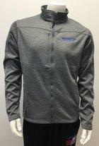 Heather Gray Full Zip Soft Shell Jacket