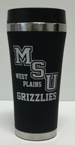 Cup 16oz Satin Black Tumbler MSUWP over Grizzlies