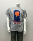 T-Shirt Sm Wh Basketball Hand on ball, Grizzly MSU WP