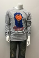 Lgsh T-Shirt SM Grey Basketball Hand on Ball, Grizzly MSU WP