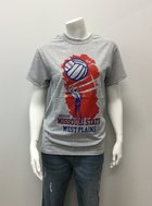 T-Shirt SM Wh Volleyball Hand/ Ball, Net MSU WP