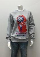 Crew SM Grey Volleyball Hand/Ball/Net MSU WP