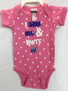 I Drool Royal and White Polka Dot Onesie