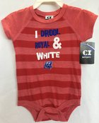 I Drool Royal & White Red Stripes Onesie