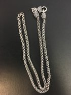 Necklace, Silver chain large clasp
